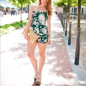 H&M Green & White Romper